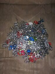 Lot Of 500 Aluminum Can Pull Tabs Silver Red Blue Green Purple Yellow Pink...