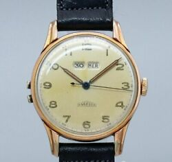 Angelus Dato12 Original Dial Arabic Index Hand Winding Vintage Watch 1940and039s
