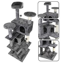 53quot; STURDY Cat Tree Tower Activity Center Large Playing House Condo For Rest