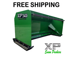 6and039 Xp30 John Deere Snow Pusher W/ Pullback Bar- Tractor Loader Andndash Free Shipping