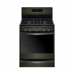 Whirlpool - 5.8 Cu. Ft. Self-cleaning Freestanding Gas Convection Range - Black