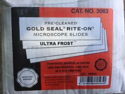 1 Case Gold Sealandtrade Rite-onandtrade And Ultra Frostandtrade Frosted Microscope Slides 3063