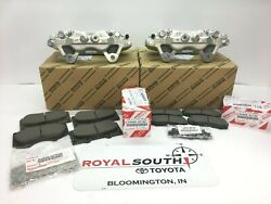 Toyota 4runner Front Caliper And Front And Rear Brake Pad Set Genuine Oe Oem