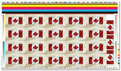 Canada 2015 50th Anniversary Of The Canadian Flag Uncut Stamp Sheet