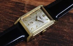 Longines 14kyg Origin. Silver Dial Small Second 1950s Vintage Hand Winding Watch