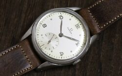 Omega Original Silver Dial 2503-5 Small Second 1947 Vintage Manual Winding Watch