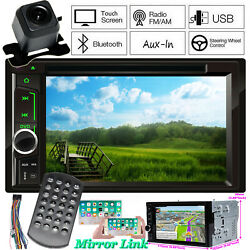 2 Din Car Stereo Dvd Cd Player Radio Aux Sd Subwoofer In Dash Fast System And Cam