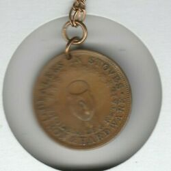 Grand Rapids Mi 1848-1854 Foster And Parry Stoves Trade Token Holed With Chain