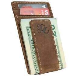 Mens Front Pocket Wallet with Money Clip by Urban Cowboy - Genuine Leather