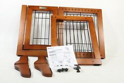 Simply Plus Wooden Pet Gate Freestanding Pet Dog Gate For FWM-01-S - Preowned