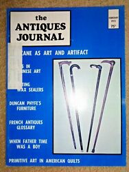 Antiques Journal 1973 Canes Wax Sealers Duncan Phyfe Furniture American Quilts