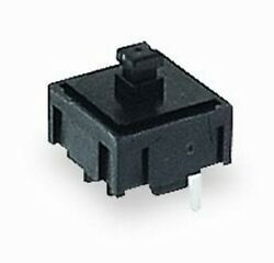 (Wholesale Qty - 600) E-SWITCH 320 Series Black Round Button Tactile Switch