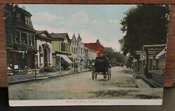 Rare 1908 West Main Street Freehold New Jersey Monmouth Co Nj Post Card