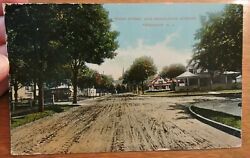 Rare 1916 Broad St And Manalapan Ave Monmouth Co Freehold New Jersey Nj Post Card