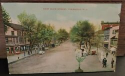 Rare 1908 East Main Street Freehold New Jersey Monmouth Co Nj Post Card
