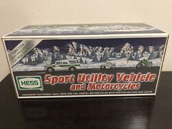 Hess 2004 Sport Utility Vehicle Toy Truck And 2 Motorcycles New