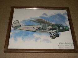 Five Vintage Nixon Galloway Airplane Prints United Airlines Free Us Shipping