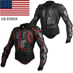 Motorcycle Full Body Protection Armor Jacket Motocross Racing Spine Chest Gear T