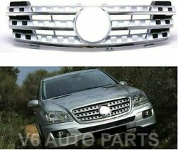 Front Radiator Black Grille For 2005 To 2008 W164 M-class Ml320 Cdi 7 Hole Style