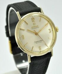 Omega Seamaster De Ville Automatic Ll6590-1 Gold 14k. Year 1966 Case 34 Mm.