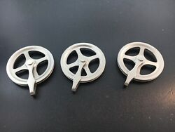Grandfather Clock Weight Pulley Set Of 3 German Made Nickel Finish