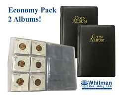X2 Coin Album Mini Wallet Stockbook For 60 2x2 Flips Holders Collection Display