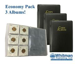 3 Coin Album Mini Wallets Stockbook For 60 2x2 Flips Holders Collection Storage
