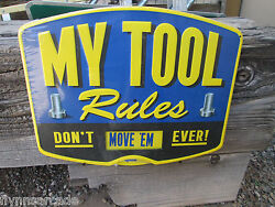 My Tool My Rules Metal Vintage Style Signs Garage Man Cave Car Gas Pump Station