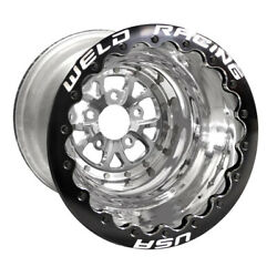 Weld V-series 16 X 16 5 X 5 4 Bs Polished Shell/center Black Ring