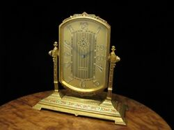 Antique Art Nouveau 8 Days Table Clock/mantel Clock With Alarm Function From