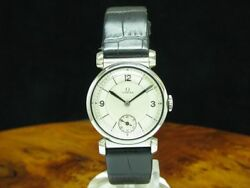 Omega Stainless Hand Wound Menand039s Watch With Small Second/caliber 26.5 Sob T2