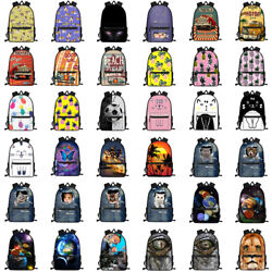 Girls Boys School Bags Cat Pug Dog Dinosaur Book Backpack Women Travel Rucksack