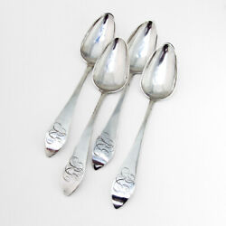 American Colonial Tablespoons Set Colonel Miles Beach Coin Silver