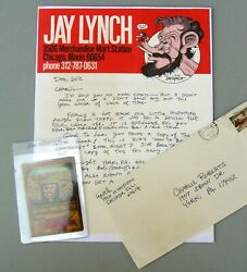 JAY LYNCH ORIGINAL ART and LETTER 1974.   Mary Tyler Moore parody