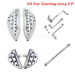 Chrome Floorboards Pegs Foot Shift Levers Linkage Fit For Touring 2014-2019