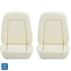 1969 Camaro Standard Front Bucket Seat Foam Bun With Springs Upper And Lower Pair