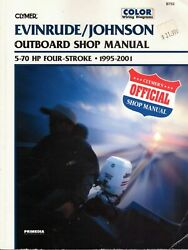Clymer Service Repair Manual Evinrude Johnson 5-70 Hp Outboard 4 Stroke 95-01