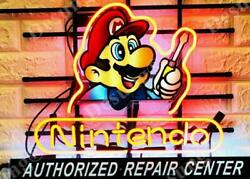 Nintendo Authorized Repair Center Beer Lamp Neon Sign 20 With Hd Vivid Printing