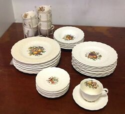 Copeland Spode China - Alden S2280 - 10 Place Settings - 8 Full 2 Partial