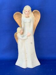 Vintage Gold Angel Mother And Daughter Willow Tree Glitter Statue Figurine ❤️sj17j