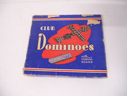 Antique Club Dominoes Scoring Board Eagle Wooden The Embossing Co No 110 Vintage