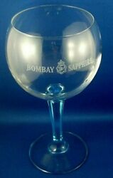 Clearance Bombay Sapphire Gin Martini Cocktail Glass Blue Stem Bar Advertising