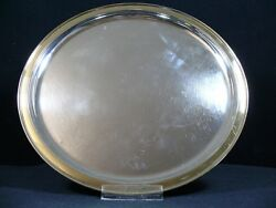 M.hansen 835 Silver Tray With Gold Plated Edge / Platter/ Real Silver/572,3g