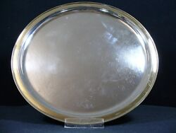 M.hansen 835 Silver Tray With Gold Plated Edge / Platter/ Real Silver/5723g