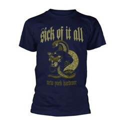 Sick Of It All #x27;Panther#x27; Navy Blue T shirt NEW