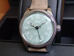 New Oris Big Crown Pointer Date 75477494067 Light Green Dial Automatic Watch