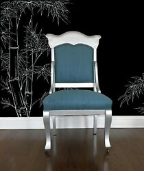 Antique High Back Side Chair, Writing Chair