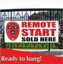 Remote Start Sold Here Banner Vinyl / Mesh Banner Sign Many Sizes Auto Service