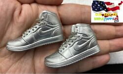 1 6 male sneakers sport shoes Silver for 12quot; male figure hot toys phicen ❶USA❶ $17.99