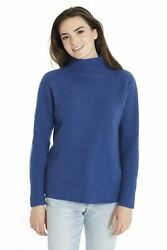 Invisible World Women's Sweaters Cashmere Thick Mock Turtleneck Pullover